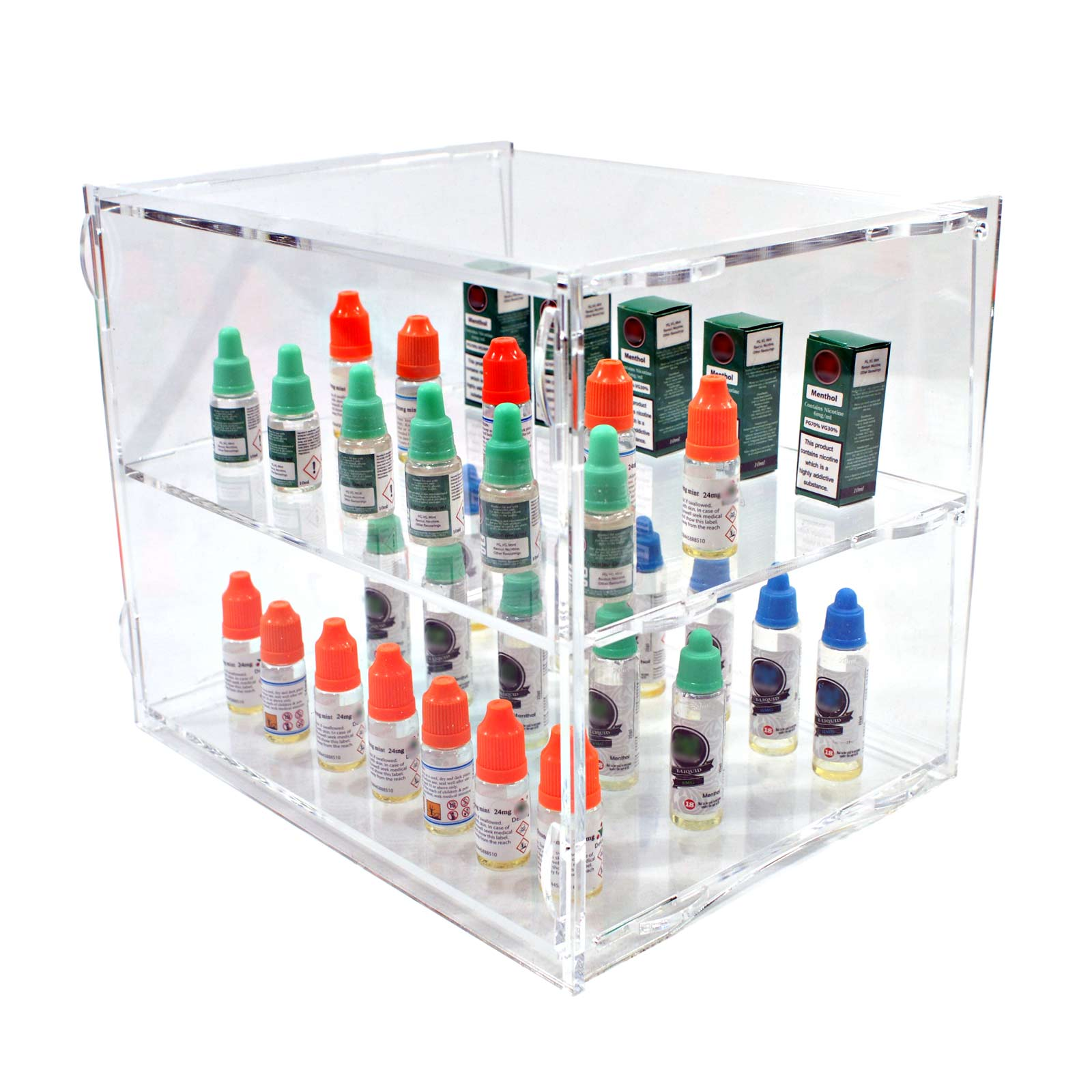 Acrylic Counter Display 2 Tier Cabinet Ds30 2c