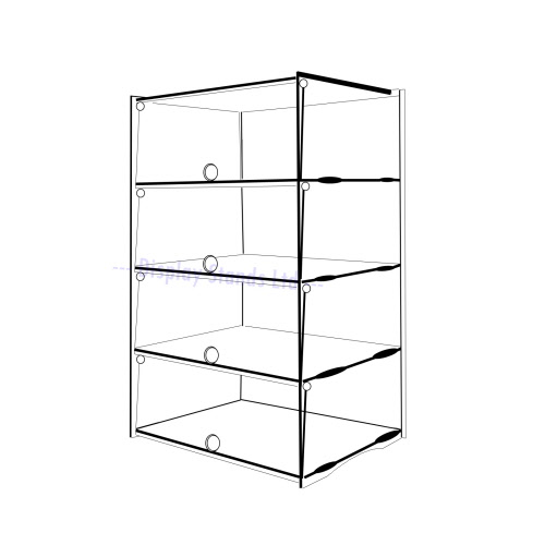 Acrylic Counter Display 4 Tier Cabinet Ds30 4c