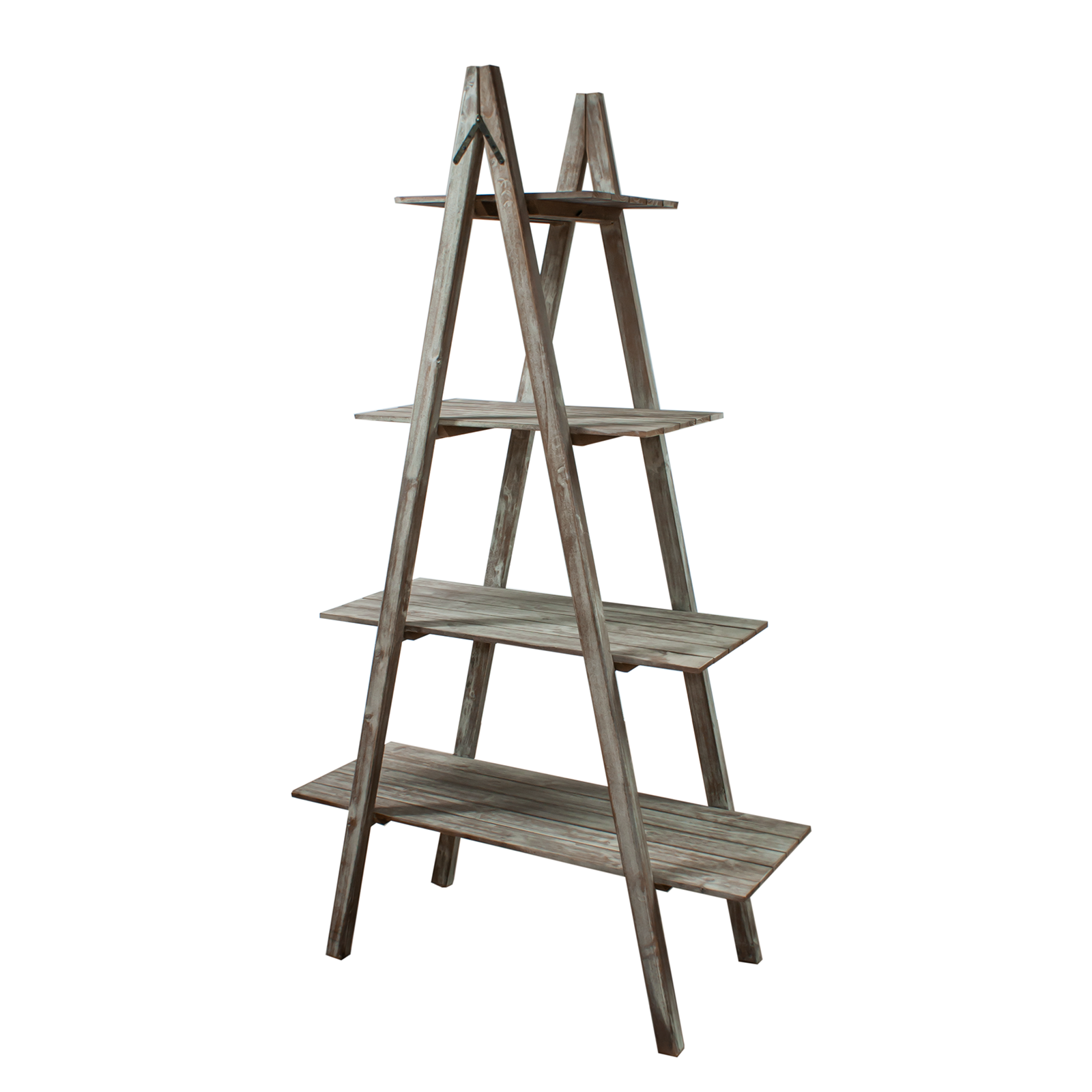 Ladder Shelving Double Sided 4 Tier Foldable Retail Shop Display Storage Di27