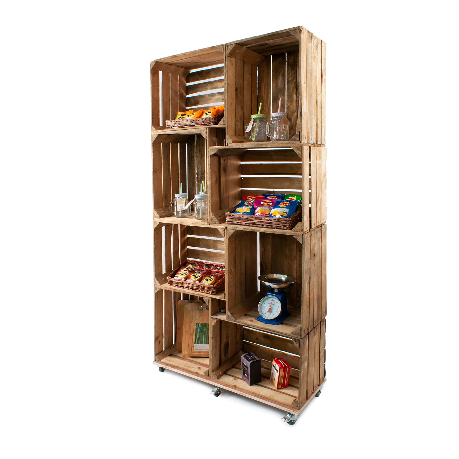 Admirable Rustic Wooden Crate Display Shelving Unit Cr8S2 Home Interior And Landscaping Oversignezvosmurscom