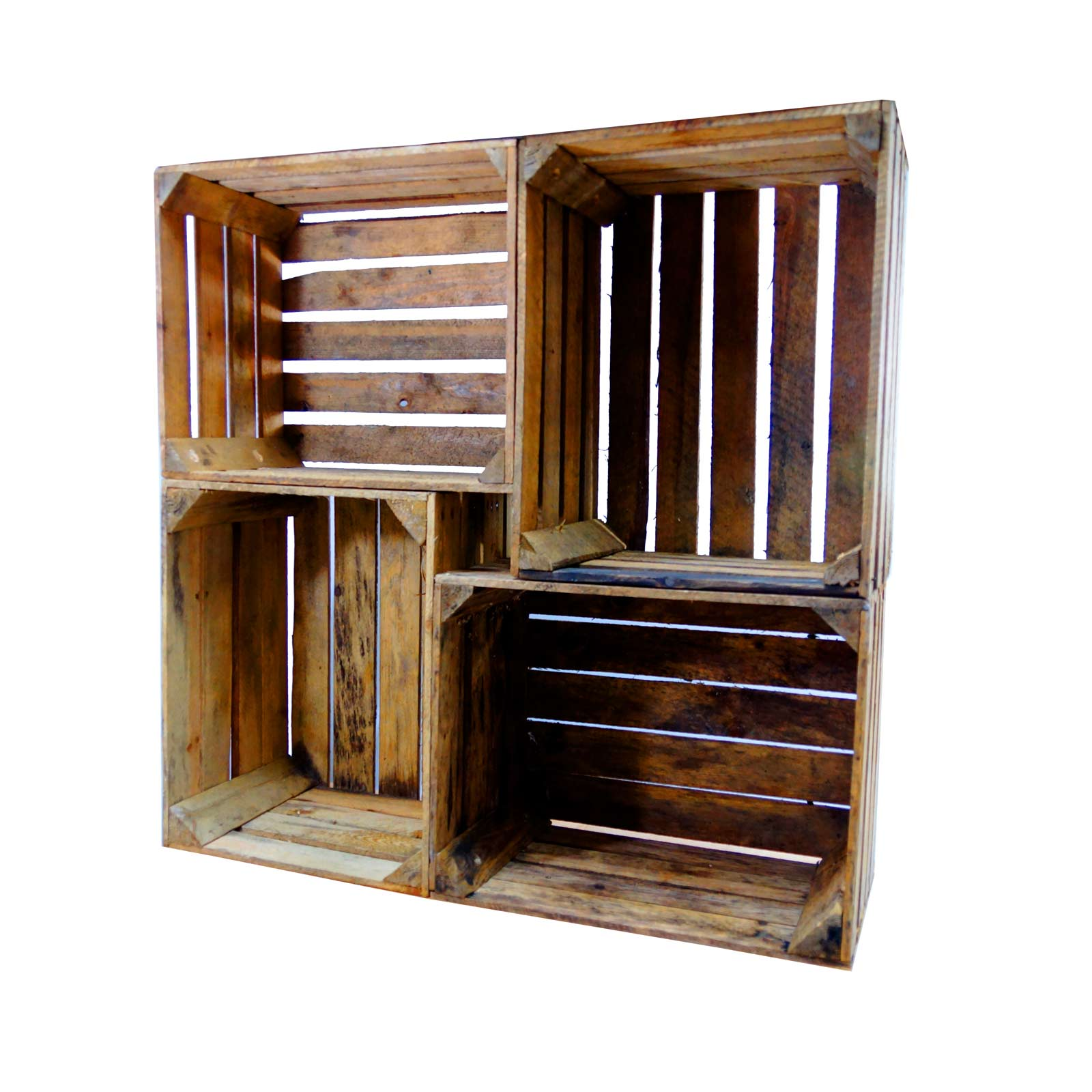 Superb Rustic Wooden Crate Display Shelving Unit Cr8S3 Home Interior And Landscaping Oversignezvosmurscom
