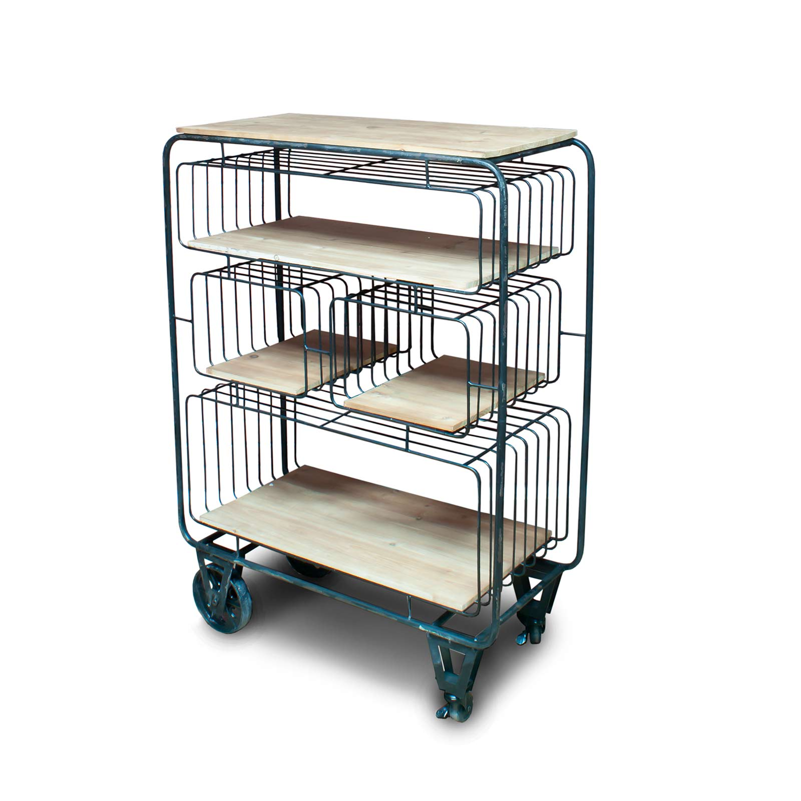 Shelving Display   Industrial Style Storage Home Retail Shelving Unit with  Wheels DI20