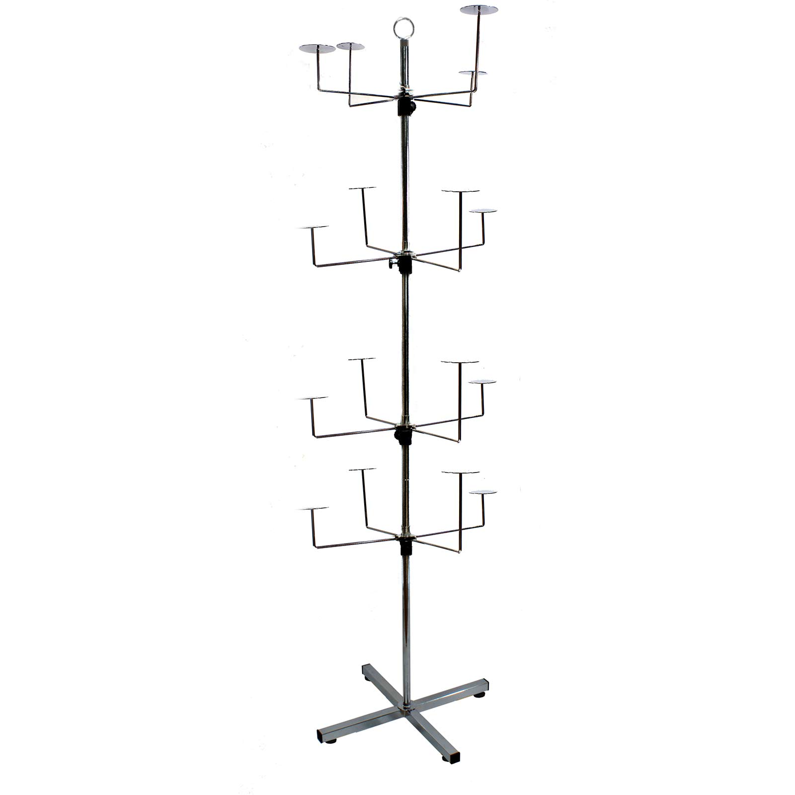 Floor Standing Rotary Hat Cap Wig Beanie Display Stand