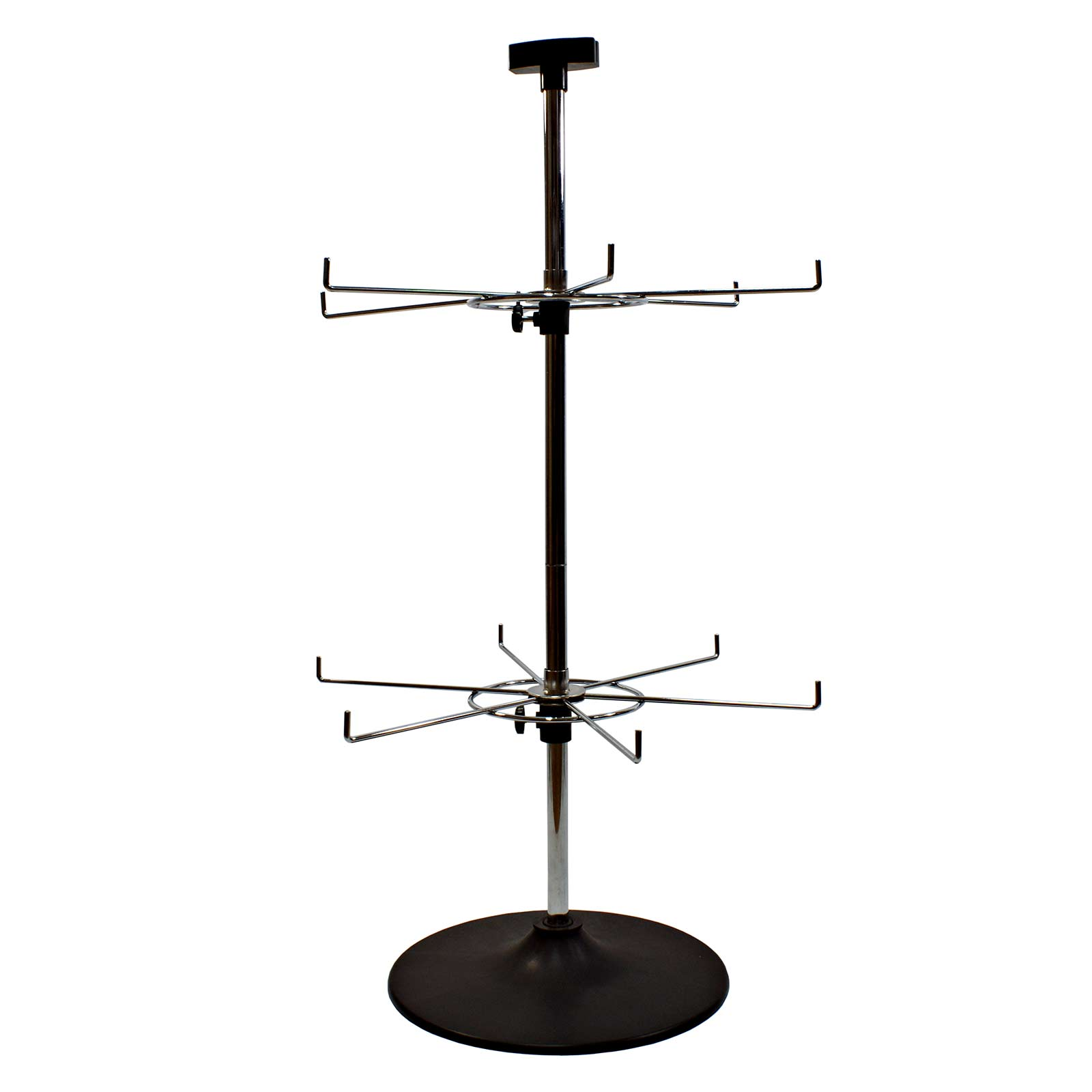 12 Hook Rotary Counter Stand In Chrome J4 6