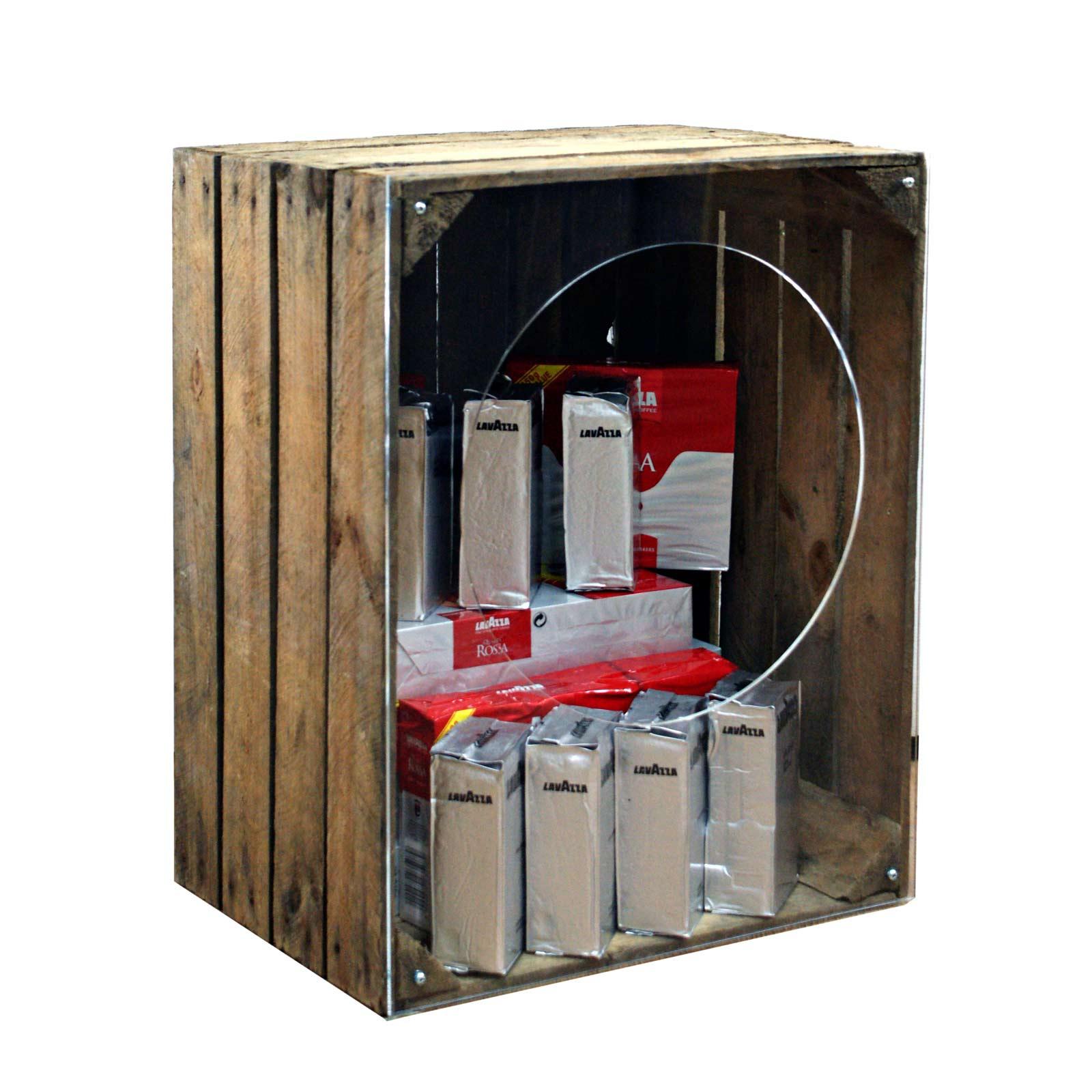 Artisan Rustic Wooden Crate Merchandiser Single Cr8s6