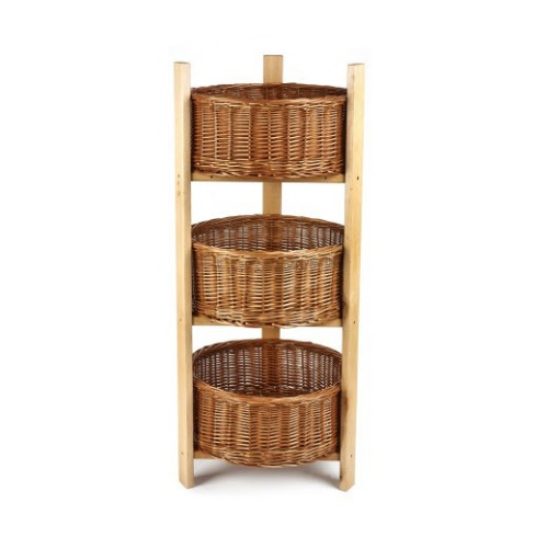 3 Tier Round Display With Round Baskets Sp055